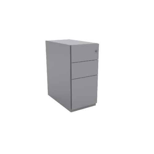 Bisley Note Pedestal Mobile 2 Stationery 1 Filing Drawer Goose Grey BY42014
