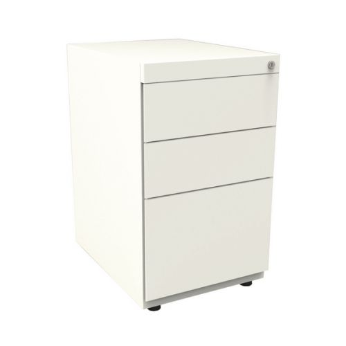 Bisley Note Pedestal Free Standing 2 Stationery 1 Filing Drawer Chalk White By42018