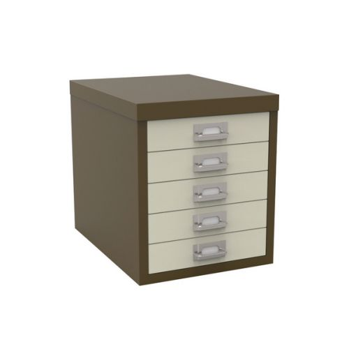 Bisley 5 Drawer Home Multidrawer 12/5 Non Locking Coffee Cream Ref H125NL-ap5ap6