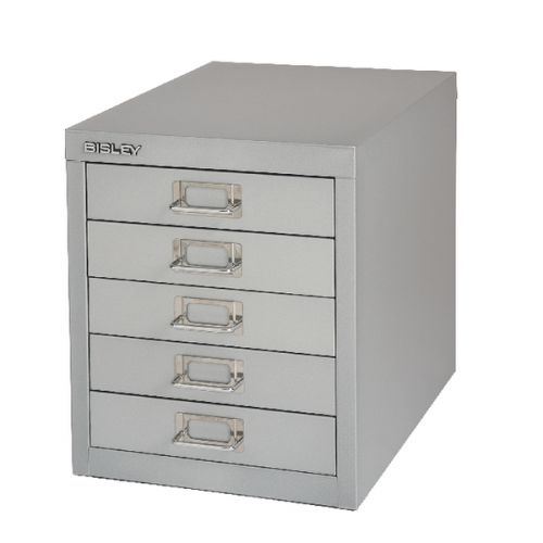 Bisley 5 Drawer Home Multidrawer 12/5 Non Locking Goose Grey Ref H125NL-at1