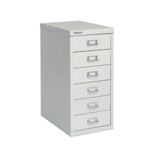 Bisley 6 Multidrawer Cabinet A4 298x400x610mm Grey H296NL-073