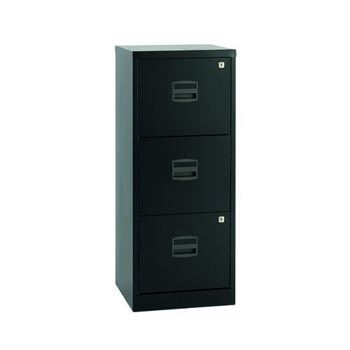 Bisley 3 Drawer A4 Home Filer Black BY48279