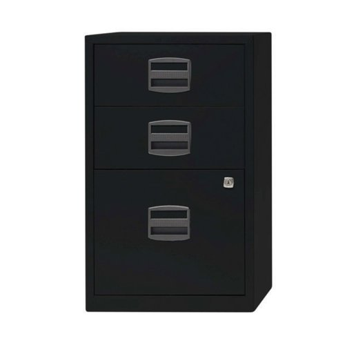 Bisley 3 Drawer A4 Home Filer Black PFA3-93