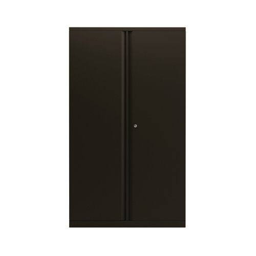 Bisley 2 Door 1570mm Cupboard Empty Black (Dimensions: W914 x D470 x H1570mm) KF78714
