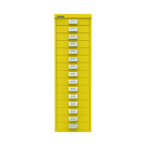 Bisley 15 Drawer Cabinet Canary Yellow BY78745