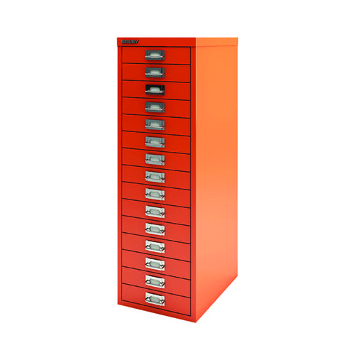 Bisley 15 Drawer Cabinet Mandarin BY78747