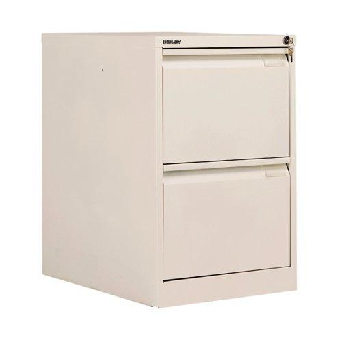 Bisley BS2E Filing Cabinet Flush Front 2D Lock Chalk BS2E/CHK