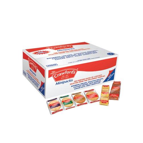 Crawford's Assorted Mini Packs 6 Variants (Pack of 100 x 3) 99848