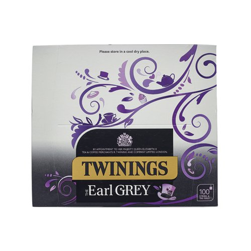 Twinings Earl Grey String and Tag Tea Bags (Pack of 100) F09363
