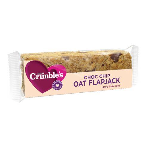 Mrs Crimbles Choc Chip Oat Flapjack 65g (Pack of 18) A08028