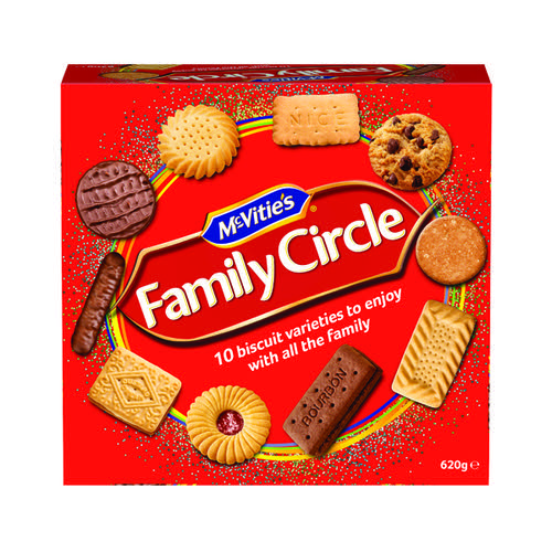 McVities Family Circle Biscuits 5 x 620g 35112