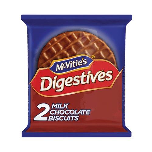 McVitie's Milk Chocolate Digestives 33g (Pack of 24 x 2) 32404