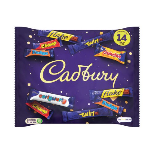 Cadbury Heroes Variety Bag (Chomp Flake Fudge Crunchie Twirl and Dairy Milk Buttons) A06966