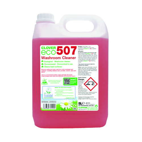 Clover ECO 507 Washroom Cleaner 5 Litre (Pack of 2) 507