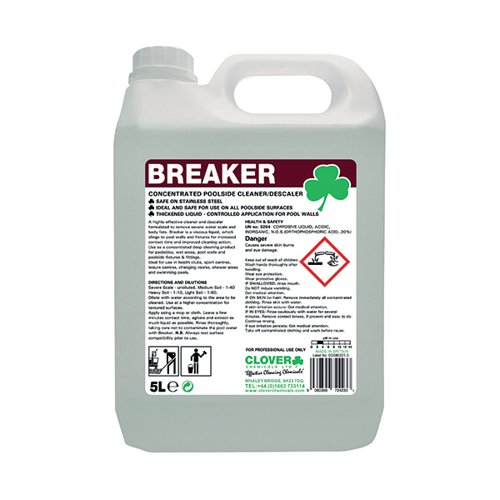 Clover Breaker Concentrated Poolside Cleaner 5 Litre 506