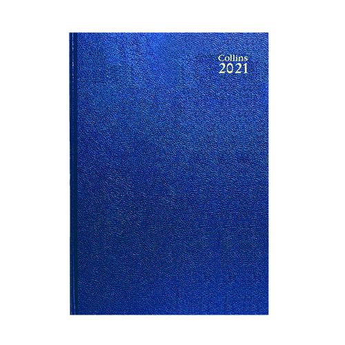 Collins Desk Diary Week to View A5 Blue 2021 35