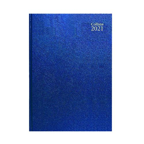 Collins Desk Diary Week to View A4 Blue 2021 40