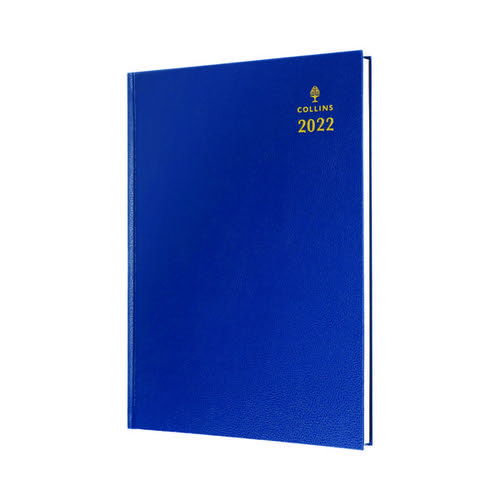 Collins A4 Desk Diary Week To View Blue 2022 40.60-22