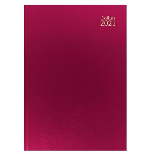Collins Desk Diary Week to View A4 Red 2021 40
