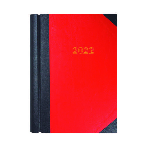 Collins A4 Desk Diary 2 Page Per Day Black/Red 2022 42