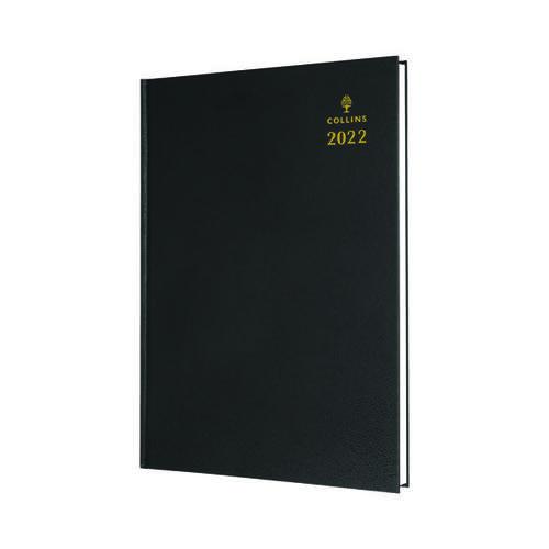 Collins A4 Desk Diary Day Per Page Black 2022 44.99-22