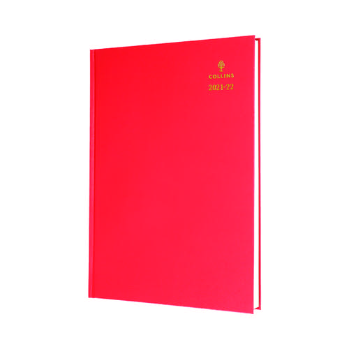 Collins Academic Diary Day Per Page A4 Red 2021-22 44MRED