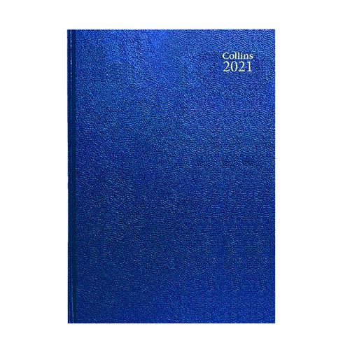 Collins Desk Diary Day Per Page A5 Blue 2021 52