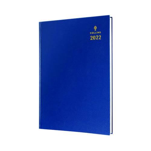 Collins A5 Desk Diary Day Per Page Blue 2022 52.60-22
