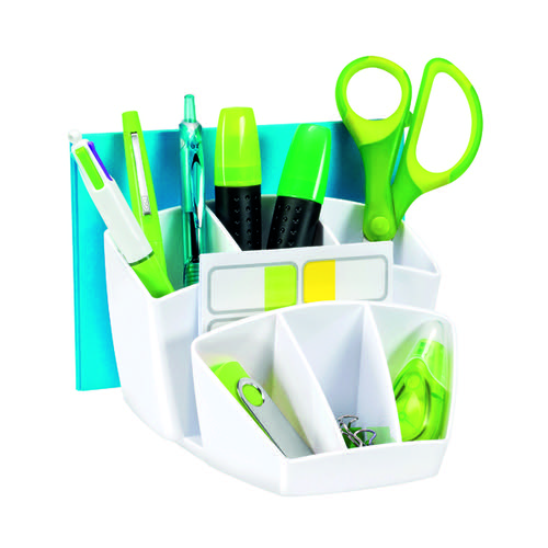 CEP Pro Gloss Desk Tidy White 580GWHITE