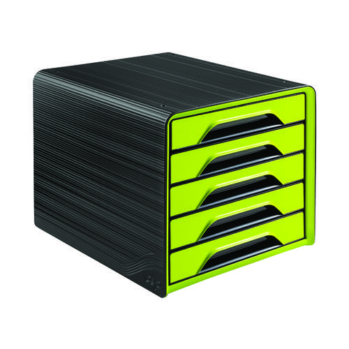 CEP Smoove 5 Drawer Module Black/Green (Made from 100% recyclable polystyrene) 1071110301