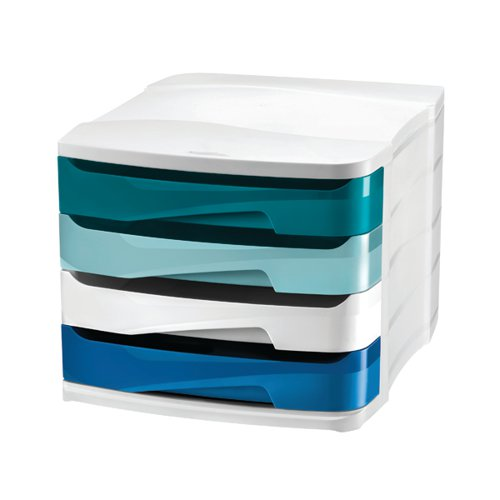 Riviera by CEP 4 Drawer Desktop Unit Multicoloured 1003940511 by CEP Office Solutions, CEP01498
