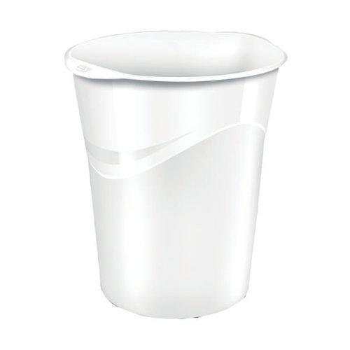 CEP Pro Gloss Waste Bin White 280GWHITE