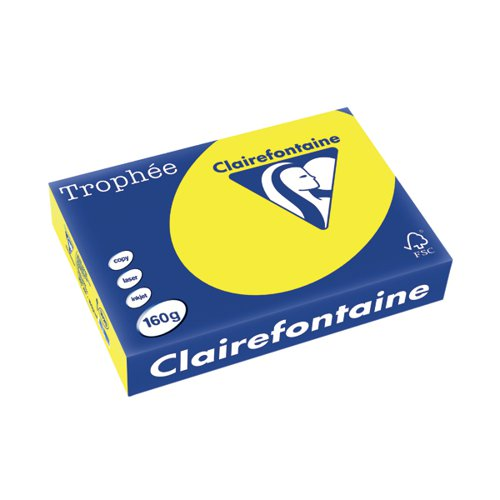 Trophee Card A4 160gm Intensive Yellow (Pack of 250) 1029C