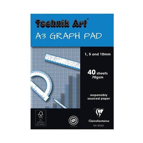 Technik Art A3 Graph Pad 1/5/10mm 40 Leaf XPG2