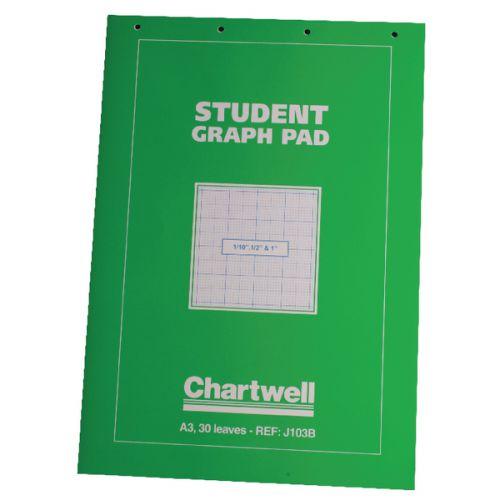 Chartwell A3 Graph Pad 30 Leaf J103B