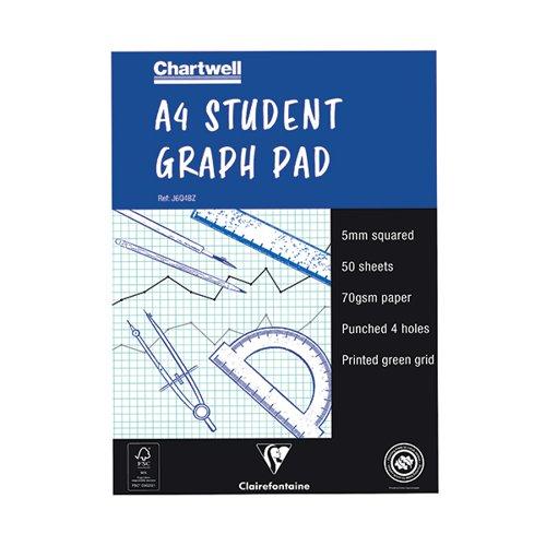 Chartwell Blue Student Graph Pad 5mm Quadrille J6Q4B