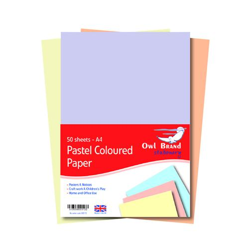 A4 Pastel Paper 80gsm 50 Sheets (Pack of 10) BS113
