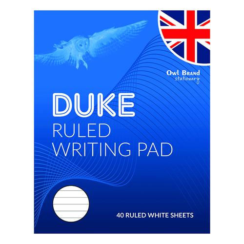 Duke Ruled Writing Pad 40 Sheets (Pack of 10) OBS066