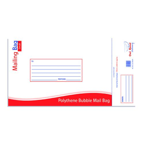 Bubble Mailing Bag Small 170x260mm (Pack of 10) OBS429