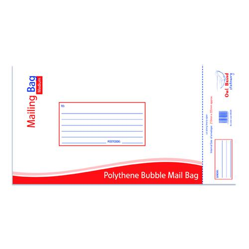Bubble Mailing Bag Medium 210x335mm (Pack of 10) OBS428