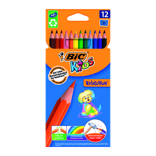 Bic Kids Evolution Ecolutions Pencils Assorted (Pack of 12) 829029