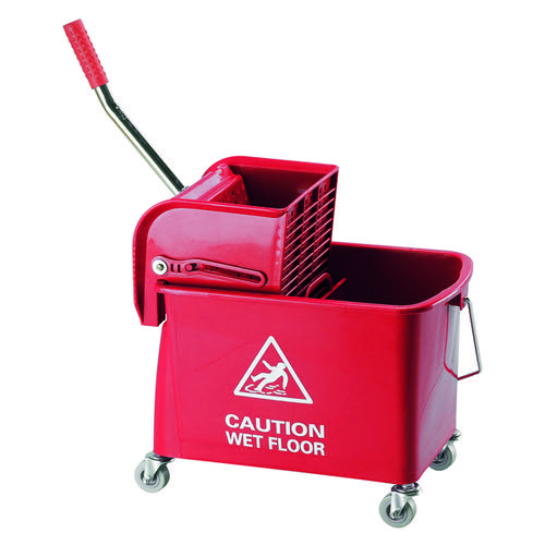 Mobile Mop Bucket and Wringer 20 Litre Red 101248RD