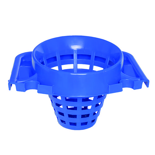 2Work Plastic Mop Bucket with Wringer 15 Litre Blue 102946BU