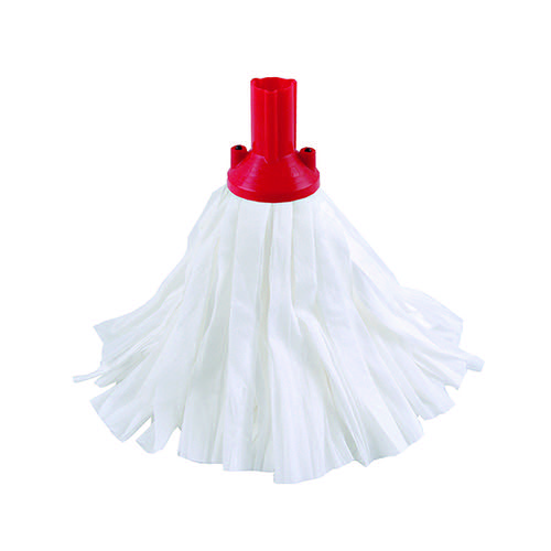 Exel Big White Mop Head Red (Pack of 10) 102199RD