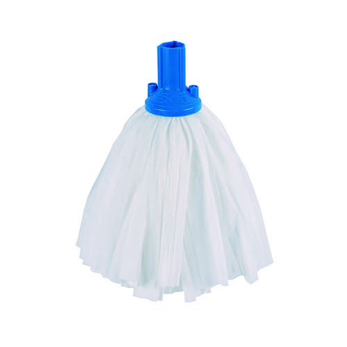 Exel Big White Mop Head Blue (Pack of 10) 102199BU