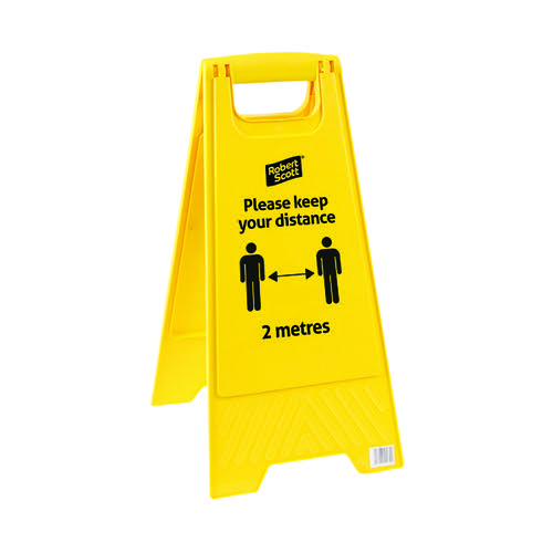 Robert Scott Social Distancing Safety Sign (Pack of 5) 104366