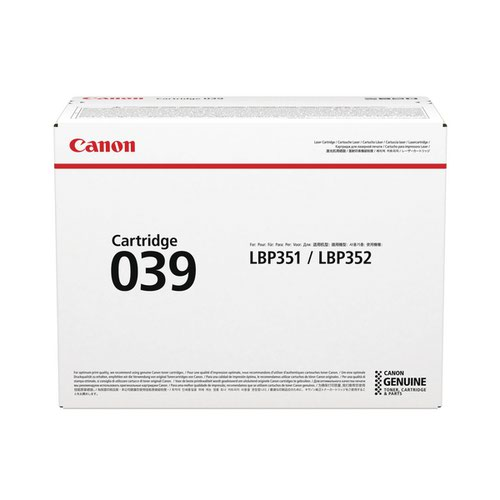 Canon 039 Black Toner Cartridge 0287C001