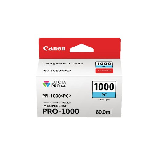 Canon Pro-1000 Photo Cyan Ink Tank 0550C001