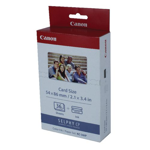 Canon KC-36IP Color Inkjet Cartridge and Label Set 7739A001