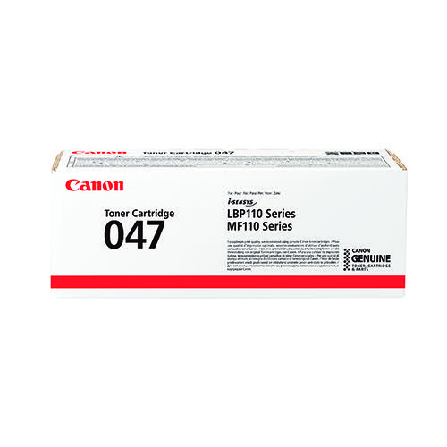 Canon CRG 047 Black Toner Cartridge (1600 Page Capacity) 2164C002